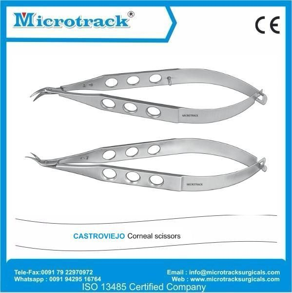 Corneal Scissor | Microtrack Surgicals Ophthalmic Instruments