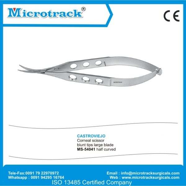 Corneal Scissor   Microtrack Surgicals Ophthalmic Instrument